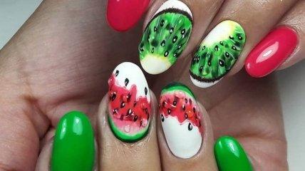 Маникюр 2019: фруктовый дизайн ногтей на лето (Фото)