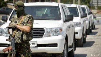 Наблюдатели ОБСЕ зафиксировали неопознанную колонну в Донецке
