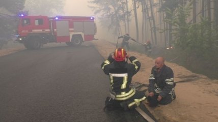ГСЧС: На Луганщине продолжается тушение лесных пожаров, в том числе пожарной авиацией