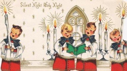 Рождественские открытки, которые дарили друг другу около 100 лет назад (Фото)