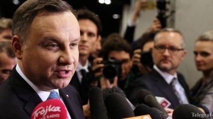 """Дуда заявил, что ему трудно принять поддержку """"Северного потока - 2"""" странами ЕС"""