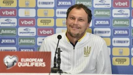 Андрей Пятов на пресс-конференции перед игрой Украина - Франция