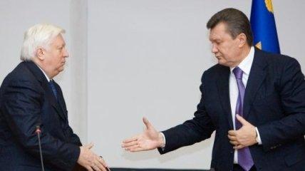 В. Пшонка: с Президентом говорим в основном о работе