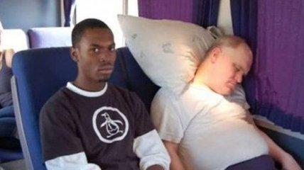 Смешные люди, которые спят в транспорте (Фотогалерея)