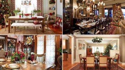 Удивительные идеи новогодних декораций для столовой (Фото)