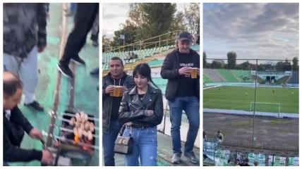 """Шашлыки на стадионе """"Украина"""""""
