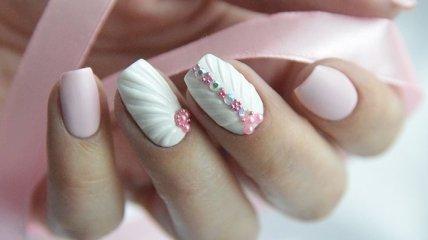 Маникюр 2018: летние идеи модного дизайна ногтей в белом цвете (Фото)