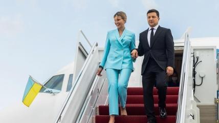 Владимир Зеленский с супругой в США