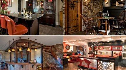 Как оборудовать стильный и уютный бар в подвале дома (Фото)