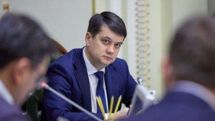 Разумков демонстративно избежал встречи с Зеленским