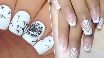 Маникюр 2018: лучшие идеи модного дизайна ногтей в белом цвете (фото)