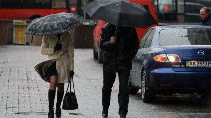 Сегодня в Украине мокрая погода