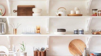 Переваги кухні з відкритими полицями (Фото)