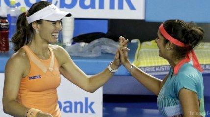 Хингис и Мирза выиграли турнир в Санкт-Петербурге