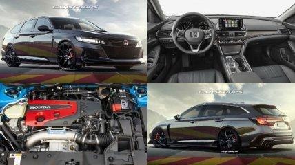 Новый вид кузова: как будет выглядеть Honda Accord Type-R (Фото)
