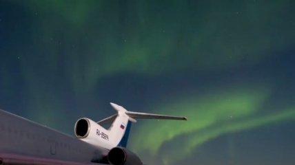 Северное сияние в самом северном городе планеты: видео явления поразили сеть