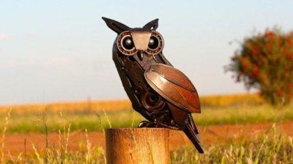 Скульптуры животных из металлолома (Фото)