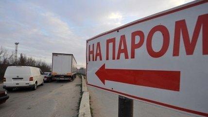 Скопление машин на Керченской переправе значительно уменьшилось