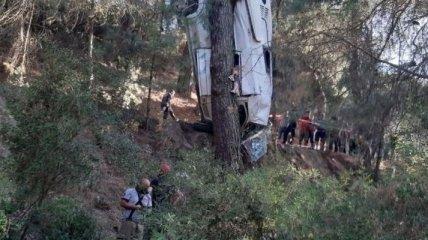 Восемь человек погибли, есть раненые - в Турции автобус сорвался с обрыва (фото с места ДТП)