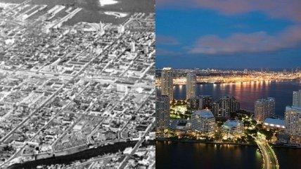 Как изменились известные города мира за несколько десятилетий (Фото)