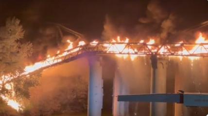 В результаті пожежі без електрики, газу та води залишилися приблизно 180 будинків