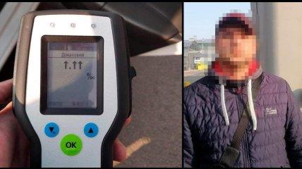 Драгер зашкалив: в аеропорту під Києвом спіймали рекордно п'яного водія