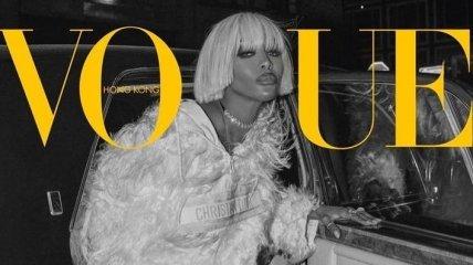 49-річна зірка фешн-індустрії Наомі Кемпбел прикрасила обкладинку Vogue