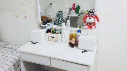 Девушка превратила крошечную съемную комнату в уютное гнездышко (Фото)