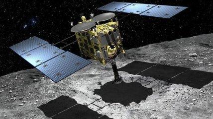 JAXA опубликовала видео бомбардировки астероида Рюгу (Видео)
