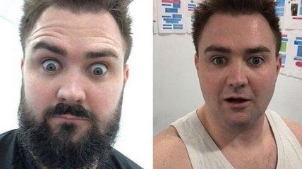 Перемены во внешности, когда мужчины сбривают бороды (Фото)