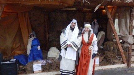 На Дерибасовской развернули Рождественский вертеп