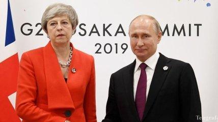 Мэй потребовала от Путина прекратить дестабилизирующую деятельность РФ