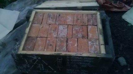 В Донецкой области обнаружен тайник с 45 килограммами тротила