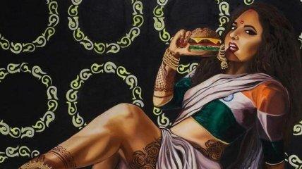 Невероятный пин-ап арт на индийский манер (Фото)