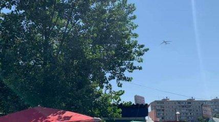 Военные самолёты над Киевом оказались репетицией парада: в сети показали фото и видео