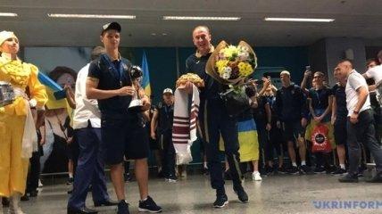 Чемпионы мира - игроки сборной Украины U-20 вернулись домой