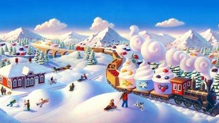 Сказочные зимние домики от Робин Молине (Фото)