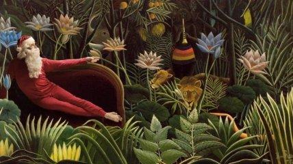 Парень добавил Санта Клауса на картины классиков мировой живописи (Фото)