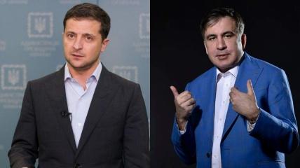 Зеленский поддержал Саакашвили, а тот поблагодарил президента