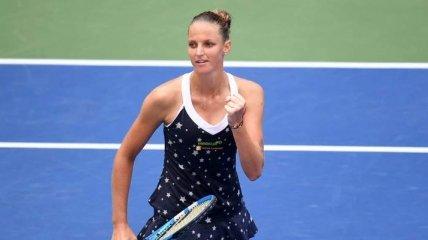 Чешка Плишкова вышла в четвертьфинал престижного теннисного турнира в Китае