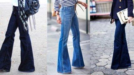Универсальные брюки клеш (Фото)