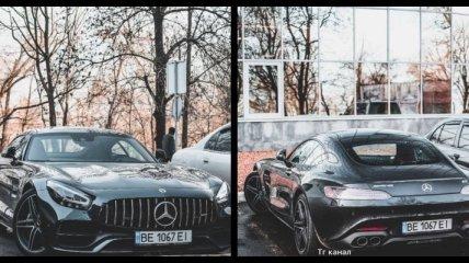 В Одессе заметили редкий Mercedes-Benz AMG GT: в сети шутят