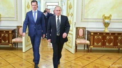 Стало известно, о чем говорили Путин с Асадом