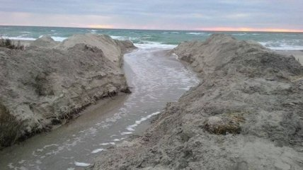 В Одесской области соединили лиман с Черным морем