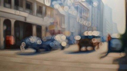 Художник показал мир глазами близоруких людей (Фото)