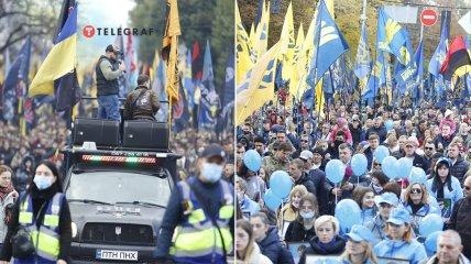 Колона вирушила на Майдан Незалежності