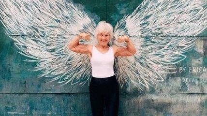 Устала от усталости: пенсионерка прославилась, занявшись бодибилдингом в 71 год (фото, видео)