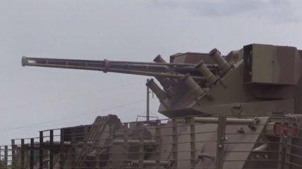 Обстрел сепаратистов из БТР и миномета (Видео)