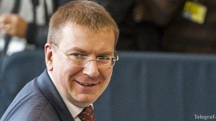 Глава латвийского МИД надеется на скорое введение безвиза для Украины