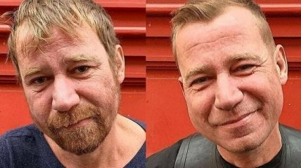Из бродяги в симпотягу: парикмахер делает бесплатные стрижки бездомным (Фото)